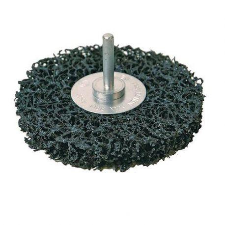 Brosse abrasive polycarbure sur tige D.100 mm