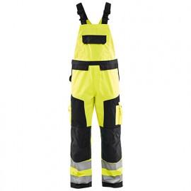 Cotte à bretelles haute-visibilité - 3399 Jaune fluo/Noir - Blaklader