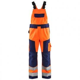 Cotte à bretelles haute-visibilité - 5389 Orange fluo/Marine - Blaklader
