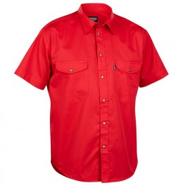 Chemise manches courtes - 5600 Rouge - Blaklader