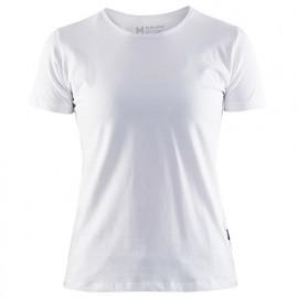 T-Shirt femme col rond - 1000 Blanc - Blaklader
