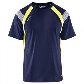 T-shirt - 8833 Marine/Jaune fluo - Blaklader