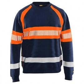 Sweat haute-visibilité - 8953 Marine/Orange fluo - Blaklader