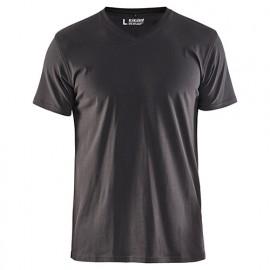 T-shirt col V - 9800 Gris Foncé - Blaklader