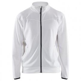 Sweat zippé - 1098 Blanc/Gris foncé - Blaklader