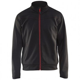 Sweat zippé - 9956 Noir/Rouge - Blaklader