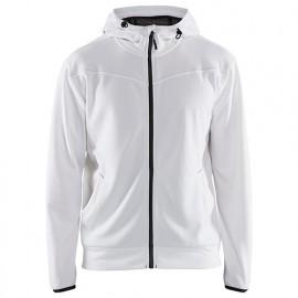 Sweat zippé à capuche - 1098 Blanc/Gris foncé - Blaklader