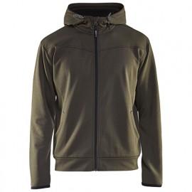 Sweat zippé à capuche - 4599 Vert Olive/Noir - Blaklader
