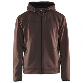 Sweat zippé à capuche - 7899 Marron/Noir - Blaklader