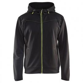 Sweat zippé à capuche - 9933 Noir/Jaune fluo - Blaklader