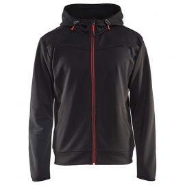 Sweat zippé à capuche - 9956 Noir/Rouge - Blaklader