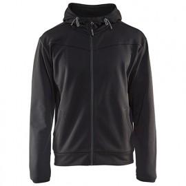 Sweat zippé à capuche - 9998 Noir/Gris Foncé - Blaklader