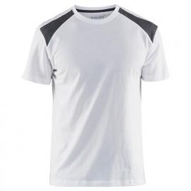 T-shirt - 1094 Blanc/Gris - Blaklader