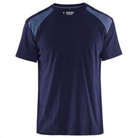 T-shirt - 8894 Marine/gris - Blaklader