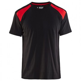 T-shirt - 9956 Noir/Rouge - Blaklader