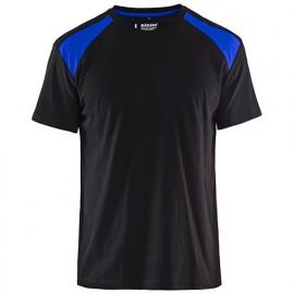 T-shirt - 9985 Noir/Bleu roi - Blaklader