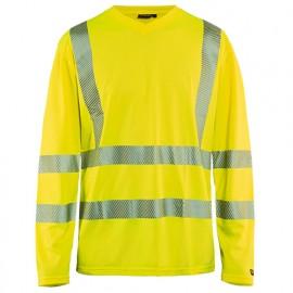 T-shirt anti-UV haute-visibilité - 3300 Jaune fluo - Blaklader