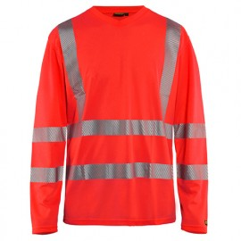 T-shirt anti-UV haute-visibilité - 5500 Rouge fluo - Blaklader