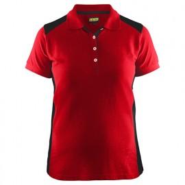 Polo femme - 5699 Rouge/Noir - Blaklader