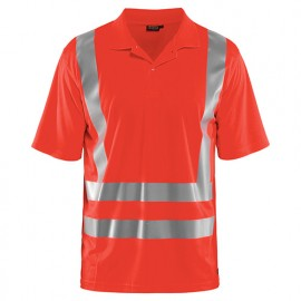 Polo anti-UV Haute-visibilité - 5500 Rouge fluo - Blaklader