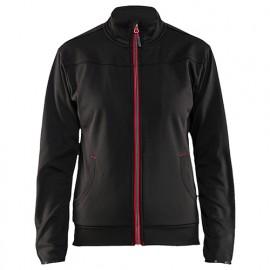 Sweat zippé femme - 9956 Noir/Rouge - Blaklader