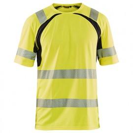T-shirt anti-UV haute-visibilité - 3399 Jaune fluo/Noir - Blaklader