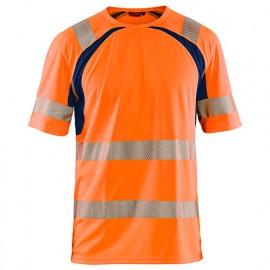 T-shirt anti-UV haute-visibilité - 5389 Orange fluo/Marine - Blaklader