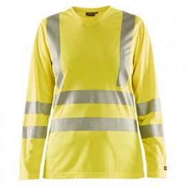 T-shirt haute-visibilité manches longues femme - 3300 Jaune fluo - Blaklader