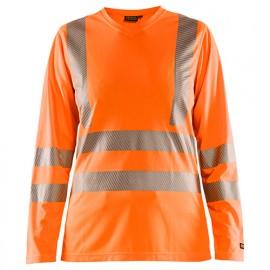 T-shirt haute-visibilité manches longues femme - 5300 Orange fluo - Blaklader