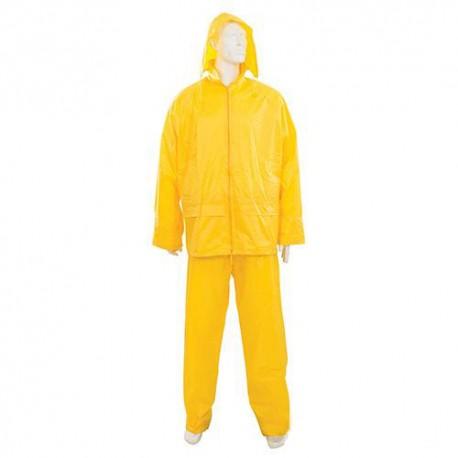 Tenue imperméable jaune 2 pcs XL 76 - 134 cm - 633542 - Silverline