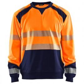 Sweat haute-visibilité - 5389 Orange fluo/Marine - Blaklader