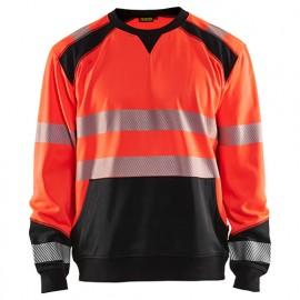 Sweat haute-visibilité - 5599 Rouge fluo/Noir - Blaklader