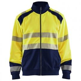 Sweat zippé haute-visibilité - 3389 Jaune fluo/Marine - Blaklader
