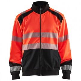 Sweat zippé haute-visibilité - 5599 Rouge fluo/Noir - Blaklader