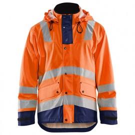 Veste de pluie niveau 2 - 5389 Orange fluo/Marine - Blaklader