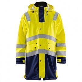 Manteau de pluie haute-visibilité niveau 2 - 3389 Jaune fluo/Marine - Blaklader