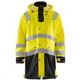 Manteau de pluie haute-visibilité niveau 2 - 3399 Jaune fluo/Noir - Blaklader