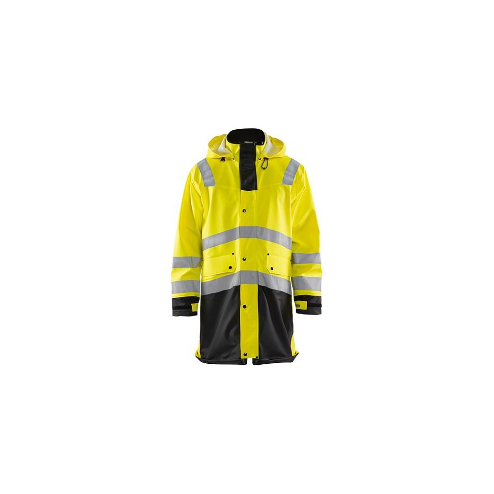 nouveau style 624f5 efa60 Manteau de pluie haute-visibilité niveau 2 - 3399 Jaune fluo ...