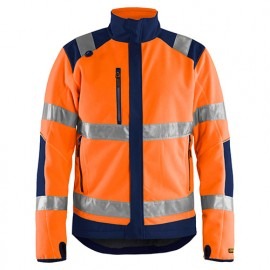 Polaire coupe-vent haute-visibilité - 5389 Orange fluo/Marine - Blaklader