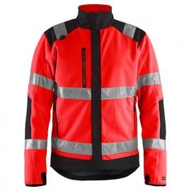 Polaire coupe-vent haute-visibilité - 5599 Rouge fluo/Noir - Blaklader