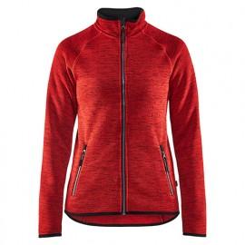Veste tricotée femme - 5699 Rouge/Noir - Blaklader