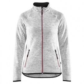 Veste tricotée femme - 9056 Gris chiné/rouge - Blaklader