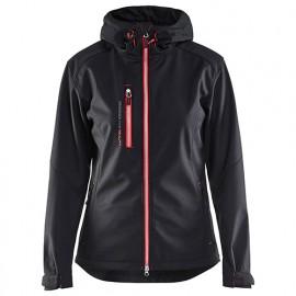 Veste softshell à capuche femme - 9956 Noir/Rouge - Blaklader