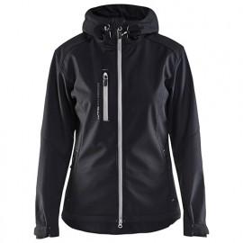 Veste softshell à capuche femme - 9992 Noir/Argent - Blaklader
