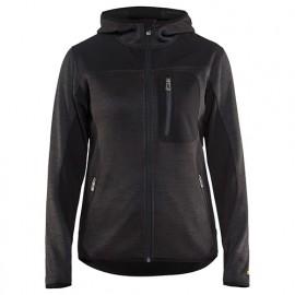 Veste tricotée à capuche femme - 9799 Gris anthracite/Noir - Blaklader