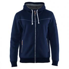Sweat zippé à capuche doublure thermique - 8900 Marine - Blaklader