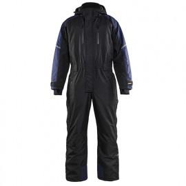 Combinaison manches longues à capuche hiver - 9989 Noir/Marine - Blaklader