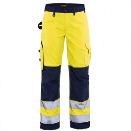Pantalon haute-visibilité femme - 3389 Jaune fluo/Marine - Blaklader