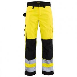 Pantalon haute-visibilité femme - 3399 Jaune fluo/Noir - Blaklader