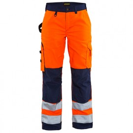 Pantalon haute-visibilité femme - 5389 Orange fluo/Marine - Blaklader